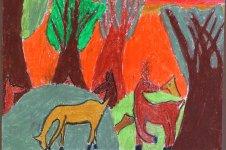 Aranyos rajzok: Lázity Alexandra - Őzek az erdőben