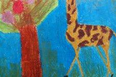 Aranyos rajzok: Hojsza Anna - Legelő zsiráf