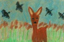Aranyos rajzok: Bozsik Dorina - Őz a nádasban