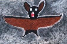 Aranyos rajzok: Bódi Levente - Denevér a barlangjában